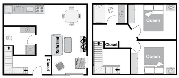 two bedroom condo. floor plan 2bdrm condo png Rocky Mountain Resort